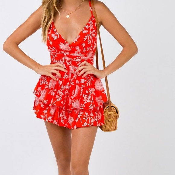 d5ad4107ff Princess Polly  Superficial Rose Playsuit
